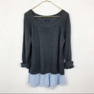 American Eagle Sweater with Ruffle